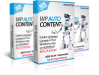 WP Auto Content – Create Fully Automated WordPress Blogs That Get Fresh Content, Videos, Images & Affiliate Links on 100% AUTOPILOT for Passive Income